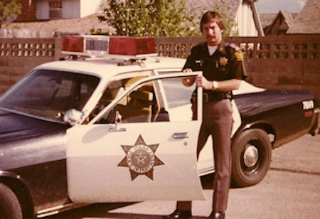 Tom and the 1978 Tulsa Police Plymouth Fury.