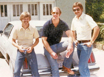 Tim Barret, Tom Fultz and Tom Vallely in about 1979.