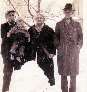 In 1940 it snowed in Birmingham--Hugh Vallely, Steve, Bridget Dugan Vallely, Charles Francis Vallely